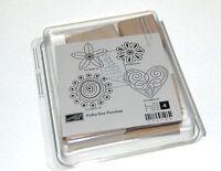 Stampin Up Polka Dot Punch Floral Stamp Set Of 4 Nip