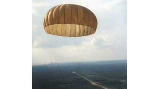 Parachute 10 M Capuchon T10 Avec Lin Olive Fête Déco Pare-Soleil