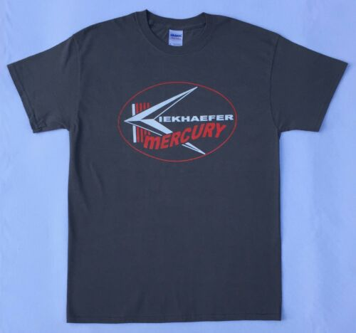 Kiekhaefer Mercury Vintage Style Outboard Motor Shirt Retro Nautical Dark Gray
