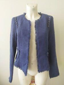 Veste chic courte façon veste tailleur en tweed taille 38/40