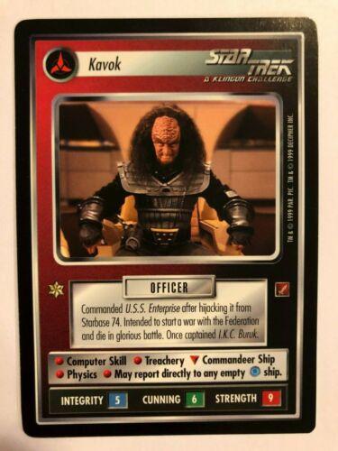 Star Trek CCG Blaze of Glory Kavok NrMint-Mint TCG