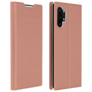 Slim-flip-wallet-case-Business-series-for-Samsung-Galaxy-Note-10-Plus-Rose-gold