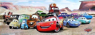 Lightning Mcqueen Characters >> Disney Cars Lightning Mcqueen Cast Of Characters Poster Banner From Asia Ebay