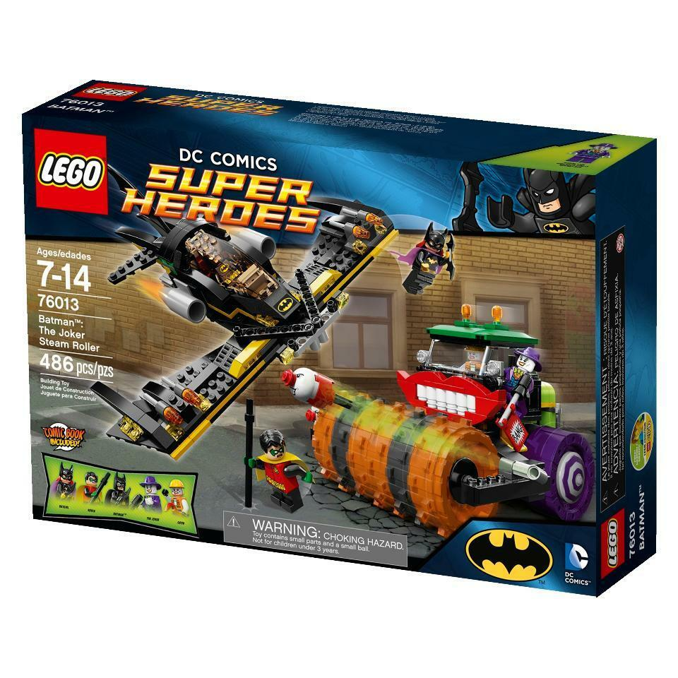 NEW LEGO DC SUPER HEROES 76013 BATMAN: THE JOKER STEAMROLLER RETIROT SET