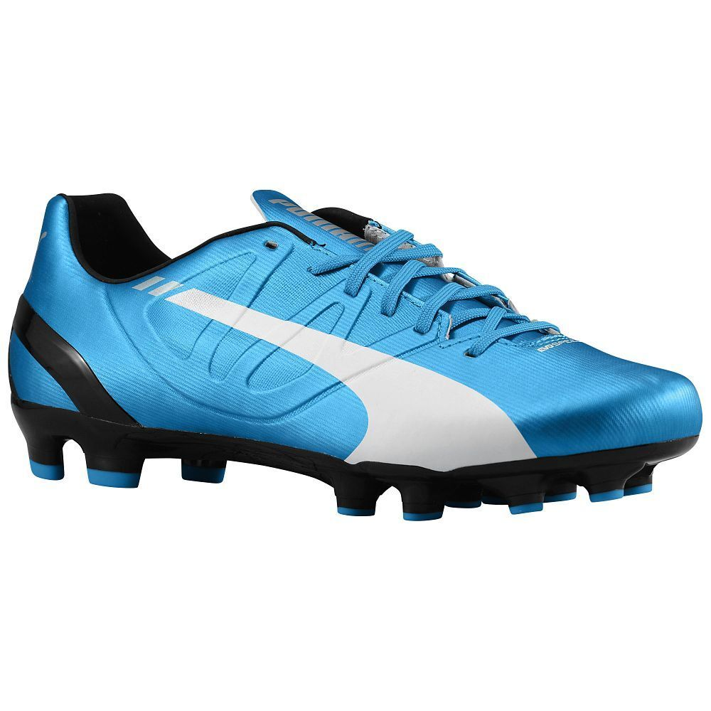Puma eVoSpeed 4.3 FG 2015 Soccer Shoes Brand New Royal Blue / Black / White Special limited time