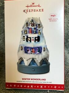 Hallmark-Keepsake-WINTER-WONDERLAND-MAGIC-Light-Sound-Motion-2016-Original-Box