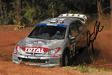 Marcus Gronholm SIGNED Total Peugeot 206 WRC   Rally of Australia  2002