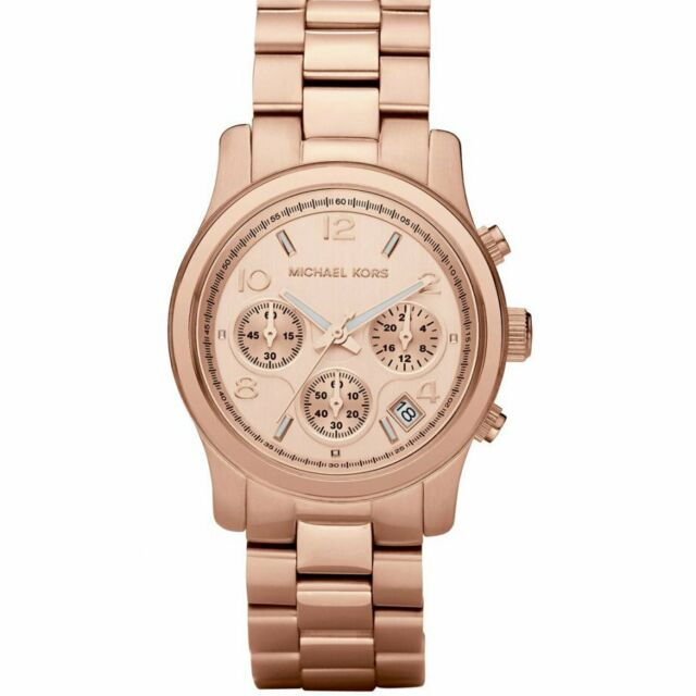 Michael Kors Watches MK5128 Rose Gold-Tone Ladies Chronograph Watch