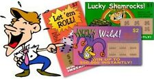 10 fake lottery lotto tickets   + 1 free million bill