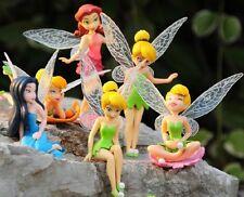 6 x TINKERBELL FAIRIES DISNEY PRINCESS ACTION FIGURES KID DISPLAY FIGURINES TOY