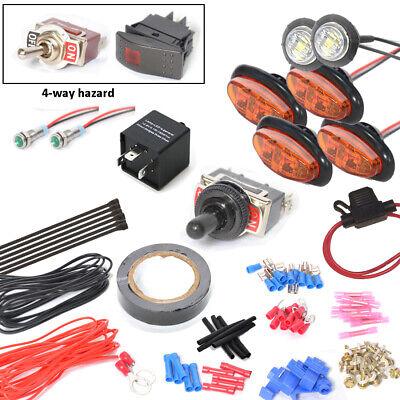 UTV//SXS//ATV Turn Signal Kit w//HORN for Kawasaki Mule line Brilliant LEDs