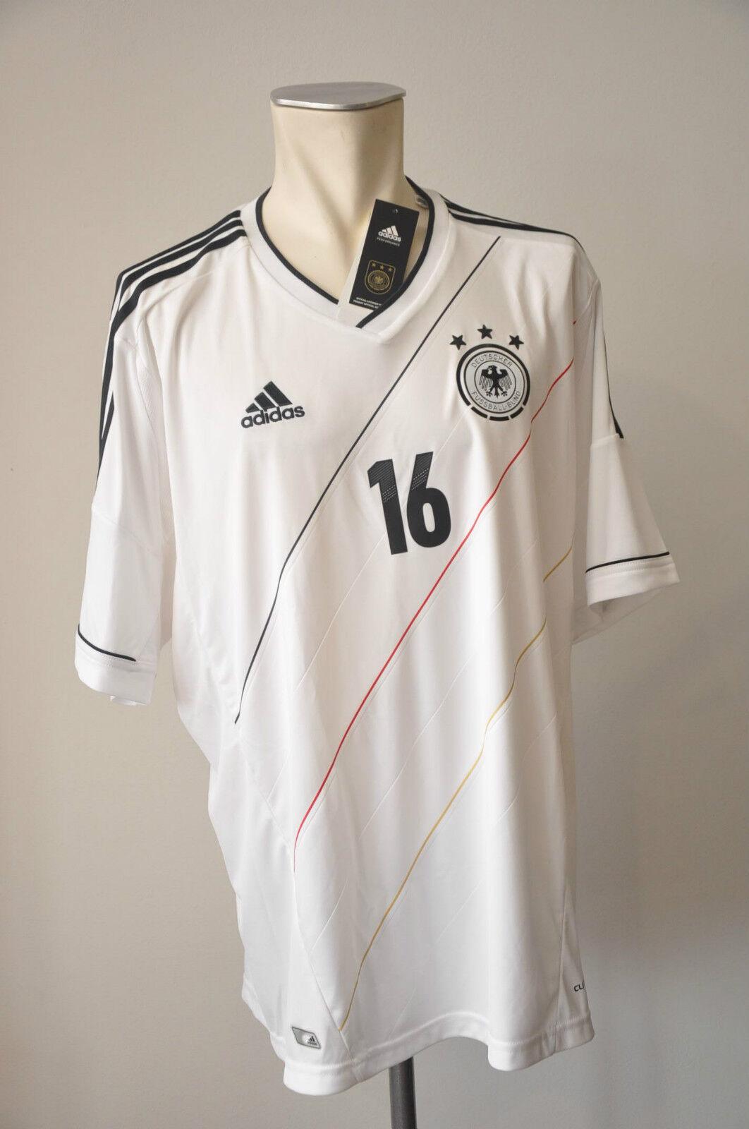 2012 Germany Jersey Lame  16 Größe XXL Adidas Wm DFB Home EM JERSEY 2xl