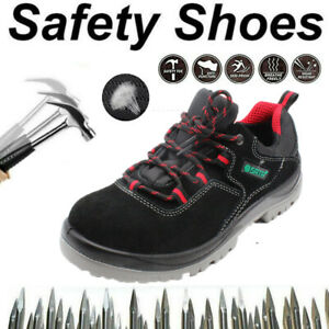 Mens Steel Toe Cap Outdoor Hiking Boot Safety shoe Trainers Indestructible UK J1