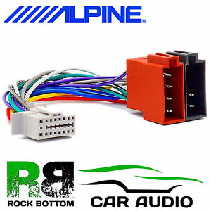 alpine cde 100eub cde 100 16 pin car stereo radio iso wiring harness rh ebay ie Reset Clock On Alpine Cde 100 Manual