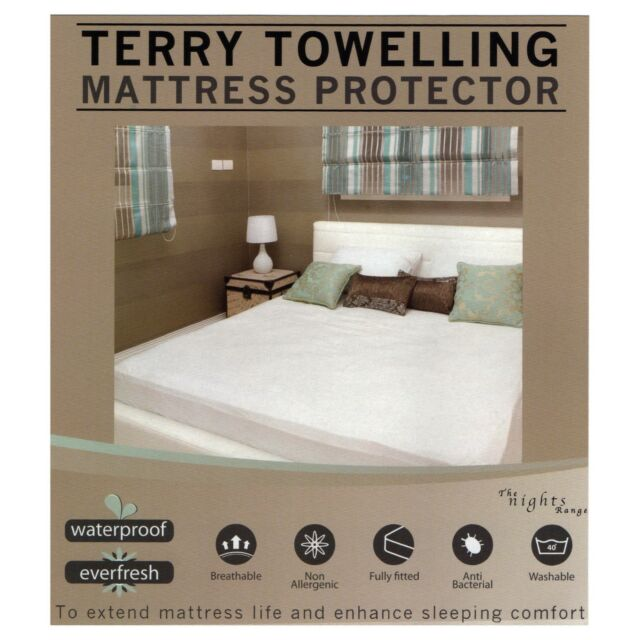 Waterproof Mattress Protector Terry Towel Fitted Wet Sheet Nursery Bedding Cover