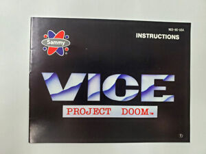 Nintendo-NES-Sammy-Vice-Project-Doom-Instruction-Manual-Booklet-no-game