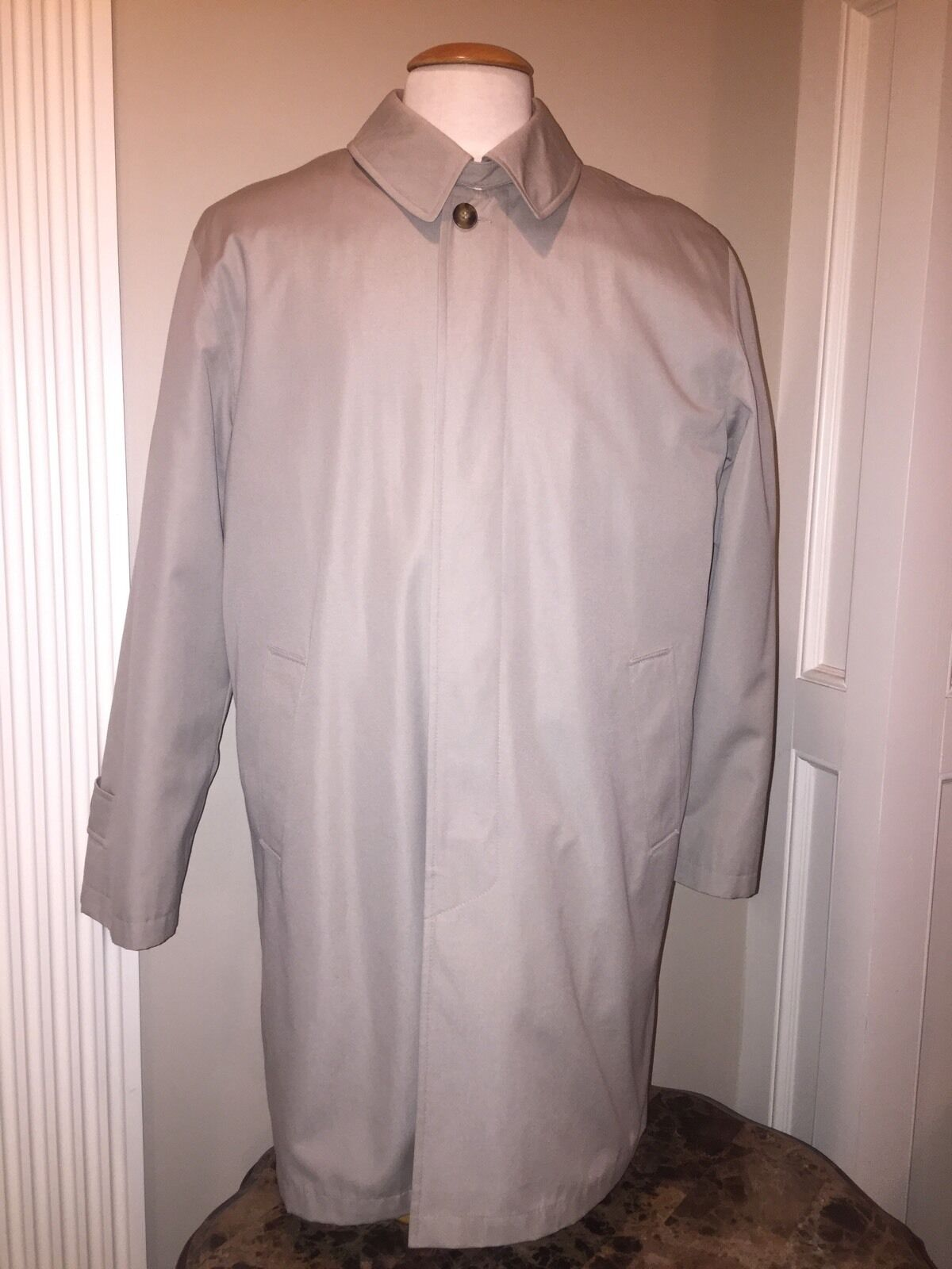 Stanford > Herren M Regular >Beige Trench Coat W/ Warm Zip Out Quilted Lining NEW