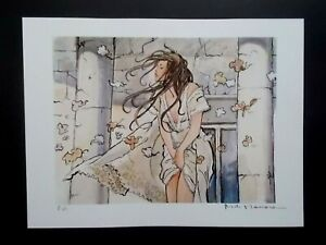 "Milo Manara  ( Art Print ) "" Le Vent ""  Epreuve d'Artiste + Belle Signature"