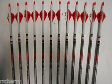 Easton Bloodline 330 Hunting Carbon Arrows! Crested/Dipped Bohning Blazer Vanes
