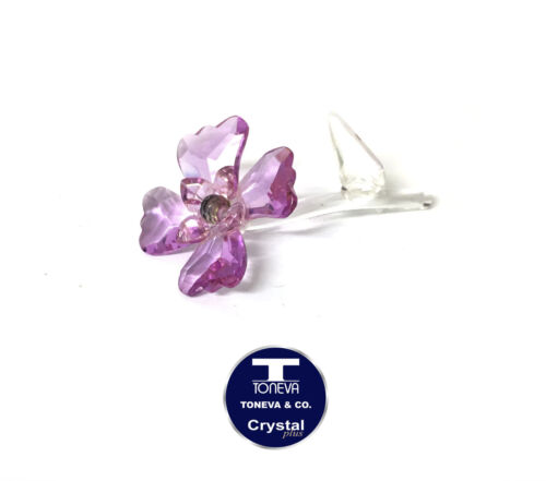 """SPECIAL OFFER /""""Colourful Orchid Stem/"""" Austrian Crystal FIgurine was AU$30.00"""