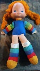 "Vintage Hallmark 1983 Rainbow Brite 17"" DOLL with Cheek Star Doll Plush"