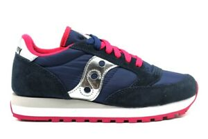 Saucony-Jazz-S1044-540-Blu-Sneakers-Donna-Scarpa-Casual-Sportiva