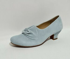 Hotter Donna Pale Blue Suede Leather