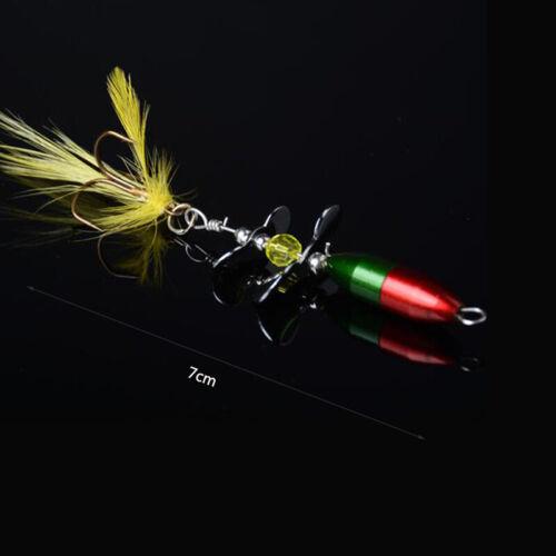 Long Casting Spinner Koeder Fischkoeder Double Tail Propeller Forelle P4N6