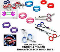 Rubber Finger&thumb Ring Sizing Size Insert Set For Joewell,auro Shears Scissors