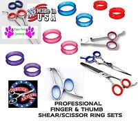Rubber Finger&thumb Ring Sizing Size Insert Set For Joewell,auro Shears Scissors