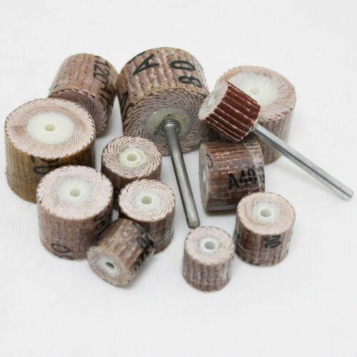 12P Sanding Sandpaper Wheel Flap Dremel Rotary Grinding Drill Bit 80~600 Grit