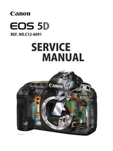 Canon EOS 5D Full Colour Servizio /& Parti Manuale Inc circuito PCB diagrammi PDF
