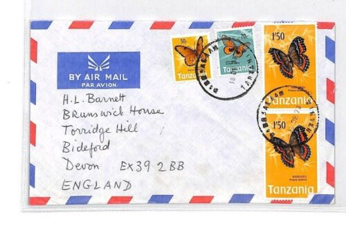 BQ153 1978 Tanzania Devon Great Britain Airmail Cover {samwells}PTS