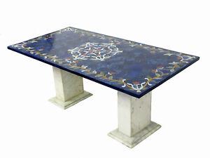120x60-cm-Lapis-Lazuli-Pietra-Dura-CouchtischTisch-Mosaik-table-wohnzimmertisch