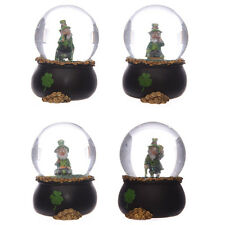 Novelty Lucky Leprechaun Snow globe Pot of Gold Waterball Ireland gift