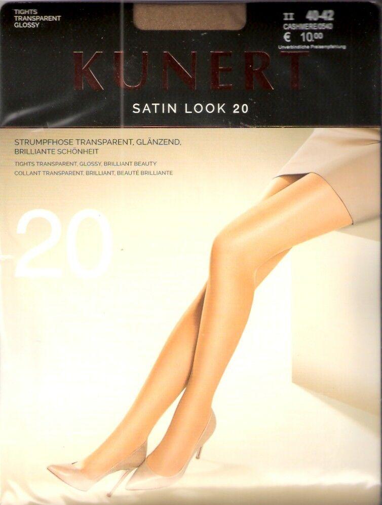 Kunert - SATIN LOOK 20 - Strumpfhose Gr. I - V schwarz, cashmere, teint