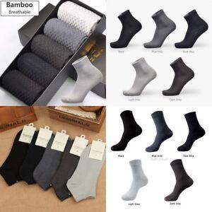 1-3-Men-Bamboo-Fiber-Socks-Business-Anti-Bacterial-Deodorant-Breathable-Sock-LOT