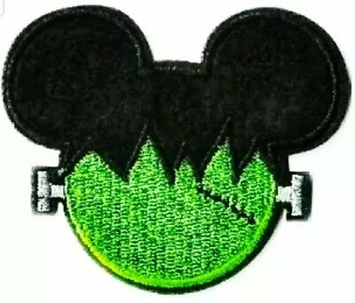 Mickey Minnie Mouse Halloween Embroidered Iron On Patches 2PC Frankenstein