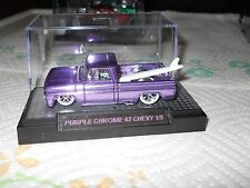 HOTWHEELS 2017 RALPHS CUSTOMS 62 CHEVY TRUCK ICY PURPLE CHROME RIMS1/5 WHITEWALL