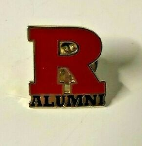 Rutgers-R-Alumni-Pin-Red-Metal-Scarlet-Knights-NJ-State-University-NEW-FOOTBALL