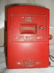 ADT-Aero-Automatic-FIRE-ALARM-Call-Box-Annunciator-Telephone-Police-Gamewell-Old
