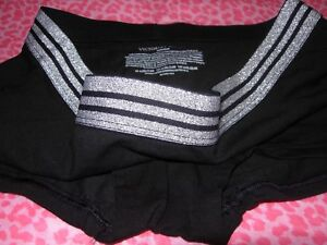 970c10133f22a Victoria's Secret VS Shortie Shorty Boyshort Panty SPARKLE Black ...