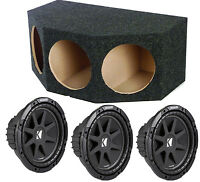 Kicker 43c124 12 Inch 900 Watt Car Subs + Triple Sealed Car Enclosure Box on sale