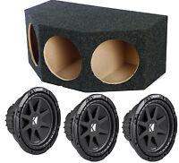 Kicker 43c124 12 Inch 900 Watt Car Subs + Triple Sealed Car Enclosure Box on sale