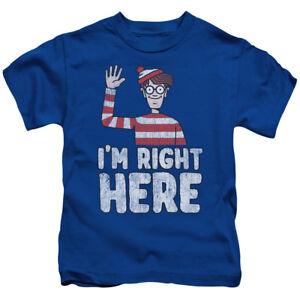 WHERES WALDO I/'M RIGHT HERE Licensed Kids Girls Boys Graphic Tee Shirt 4 5-6 7