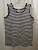 Women's Lands End Striped Tank Size Large