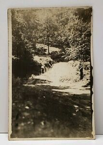 RPPC-Victorian-Woman-Taking-the-Path-Real-Photo-Postcard-G6