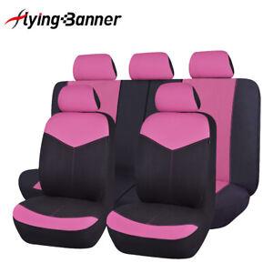 Universal-car-Seat-Covers-set-washable-Pink-rear-seat-split-40-60-50-50-60-40