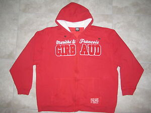 Hip-Hop-Vintage-Marithe-Francois-Girbaud-MFG-Red-Sweater-Hoodie-USED-3XL-XXXL
