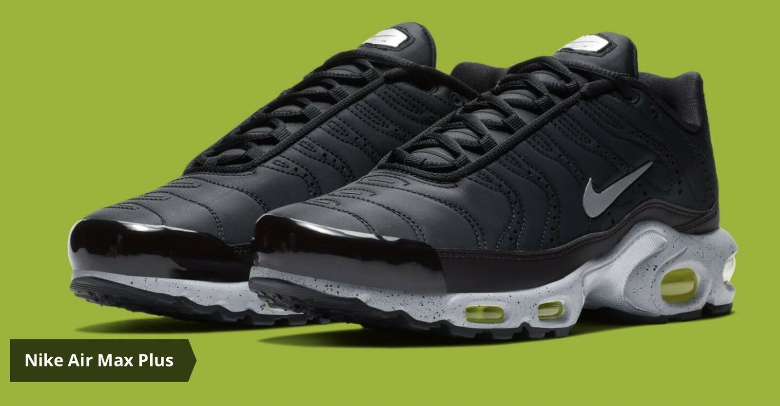 DS MENS NIKE AIR MAX PLUS PRM BLACK RUNNING SHOES 815994 003 SZ 12 FREE SHIP